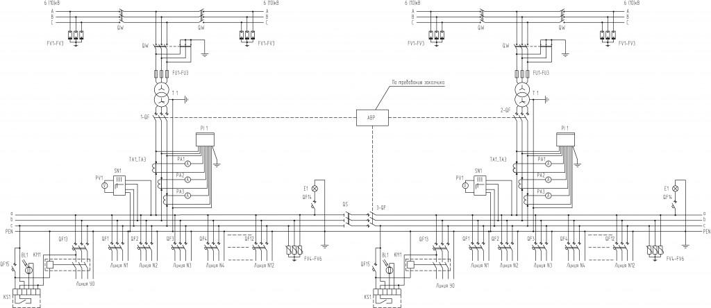 Схема-2КТПП-1000-кВА-проходного-типа
