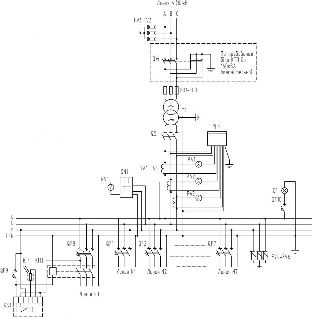 Принципиальная-электрическая-схема-для-тупиковых-КТП-3-типоисполнения