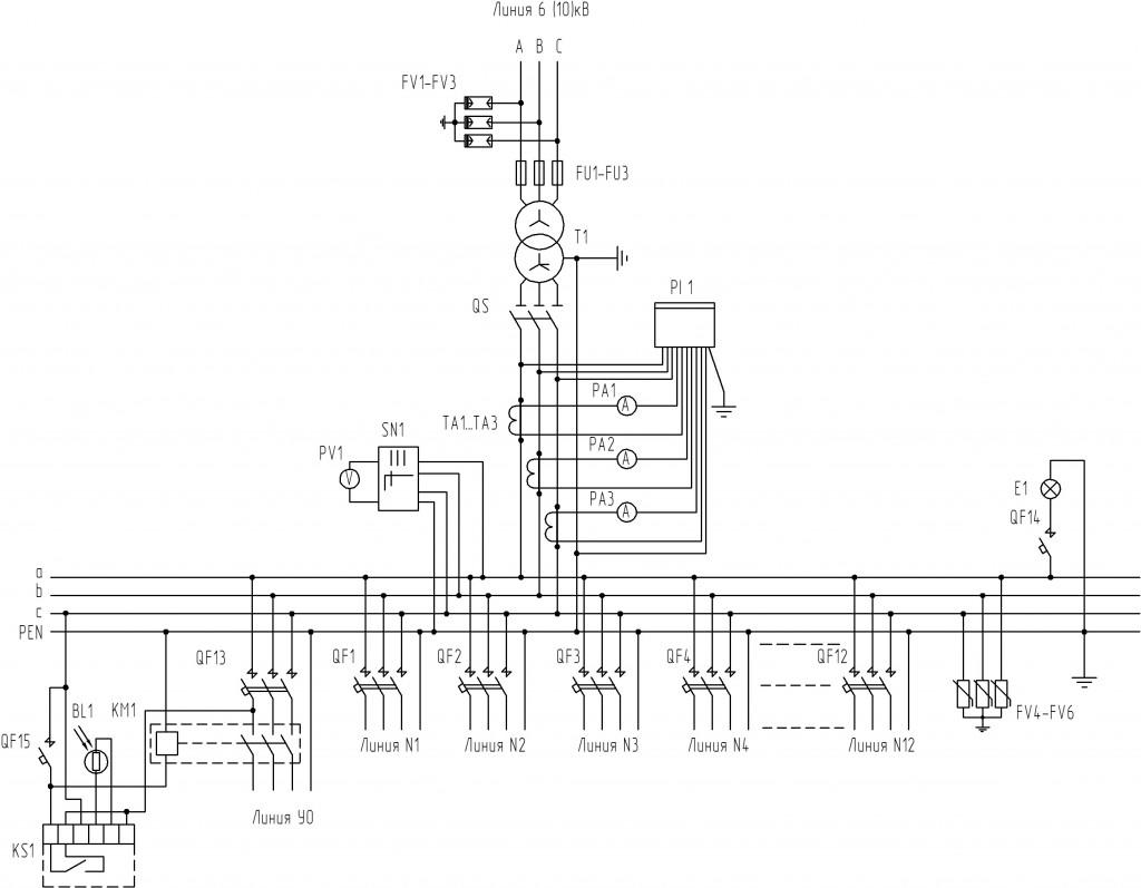 Принципиальная-электрическая-схема-для-тупиковых-КТП-4-типоисполнения
