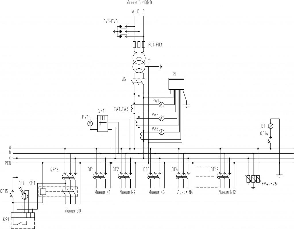 Схема-электрическая-принципиальная-для-КТП-1000-кВА-тупикового-типа
